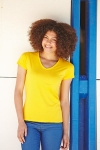 T-Shirt Valueweight donna collo a V